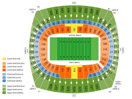 Arrowhead Stadium Seating Chart