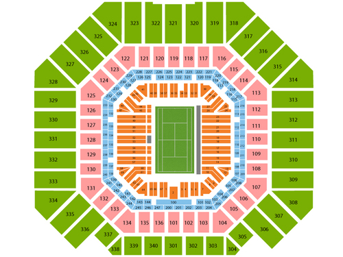 US Open Tennis Championship - Session 1 Venue Map