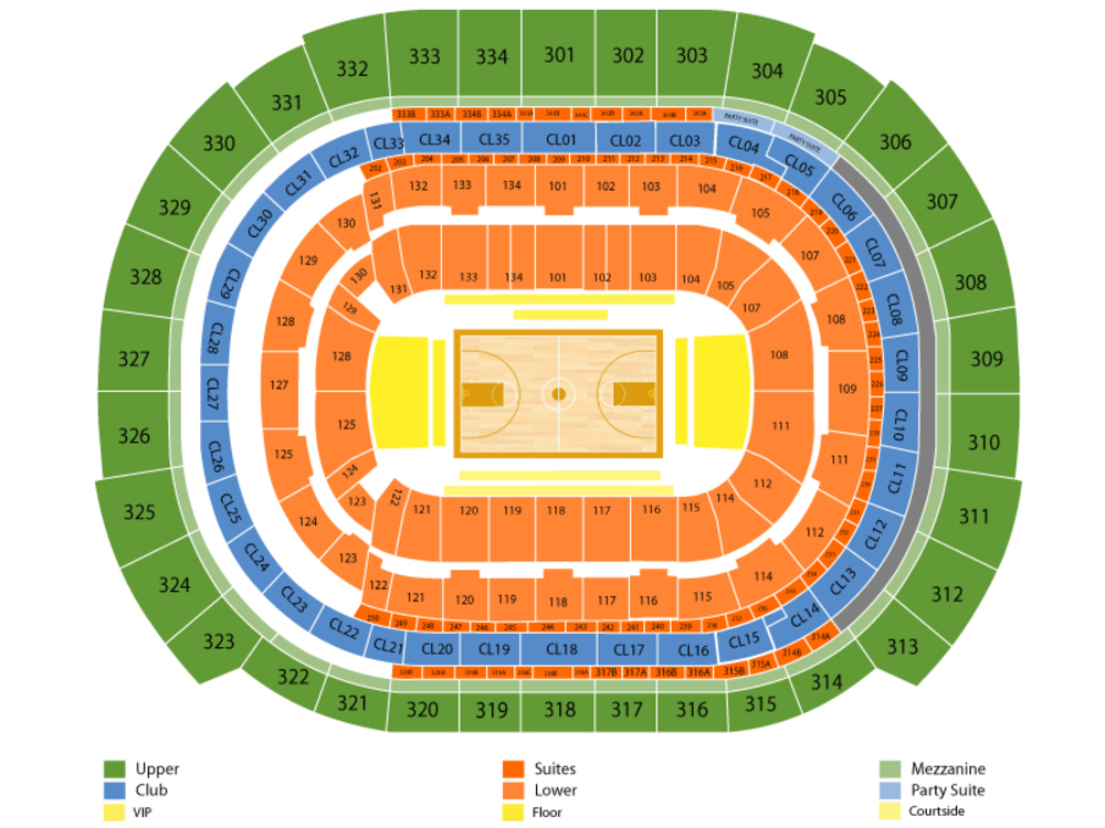 BB&T Center seating map and tickets
