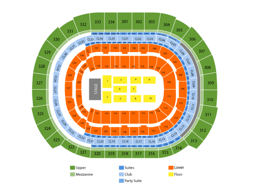 Journey and Def Leppard Venue Map