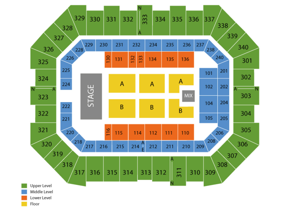 Justin Moore with Tracy Lawrence Venue Map