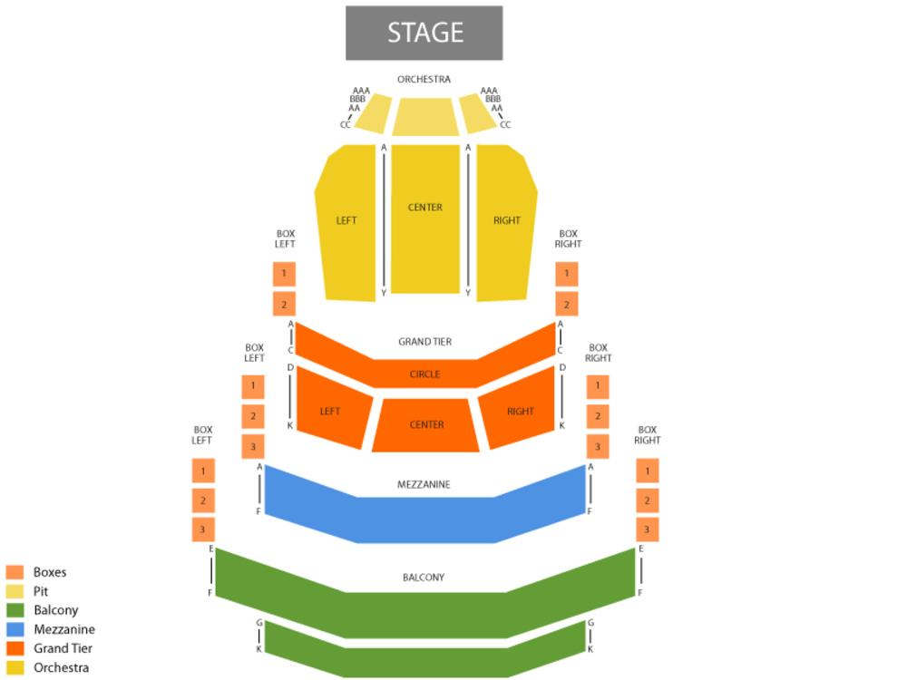 The Phantom of the Opera Venue Map