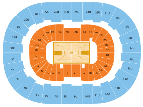 Bjcc arena seating chart events in birmingham al
