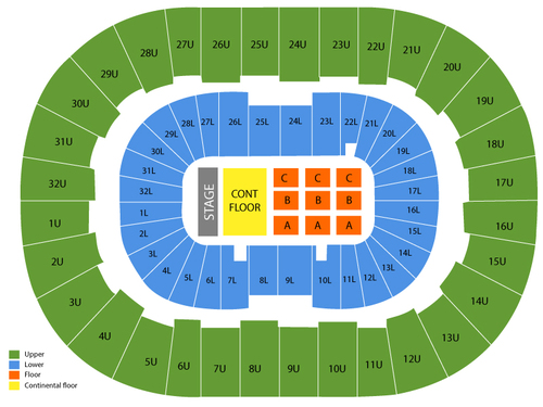 BJCC Arena Seating Chart