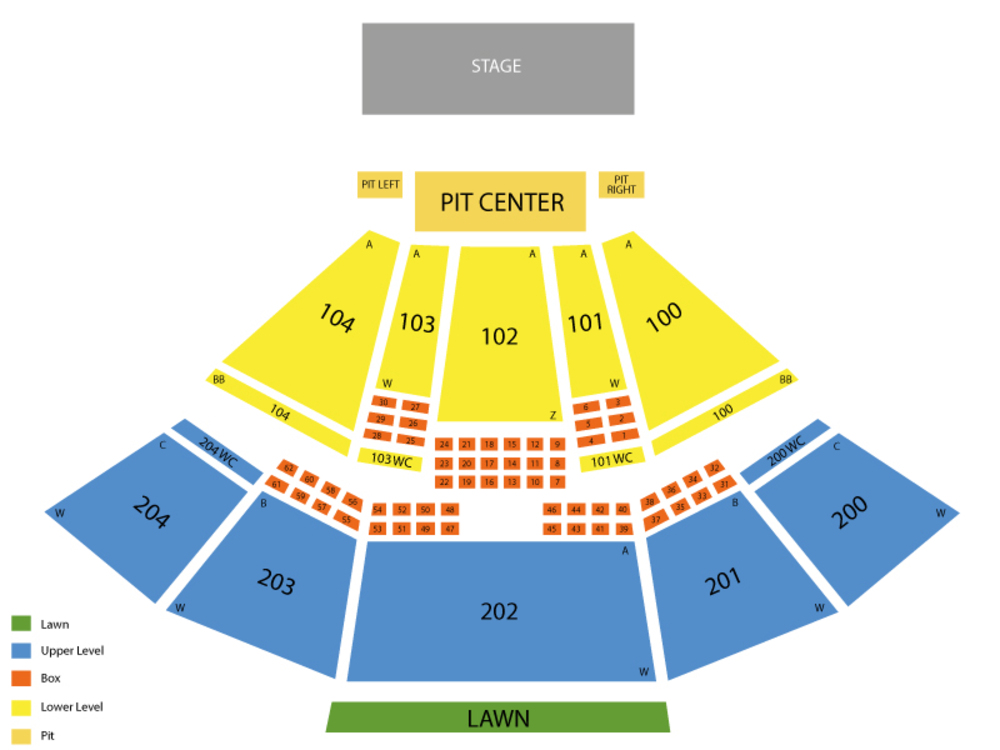 BB&T Pavilion seating map and tickets
