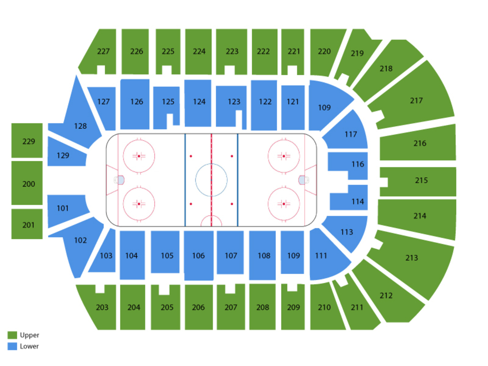 Colorado Mammoth at Rochester Knighthawks Venue Map