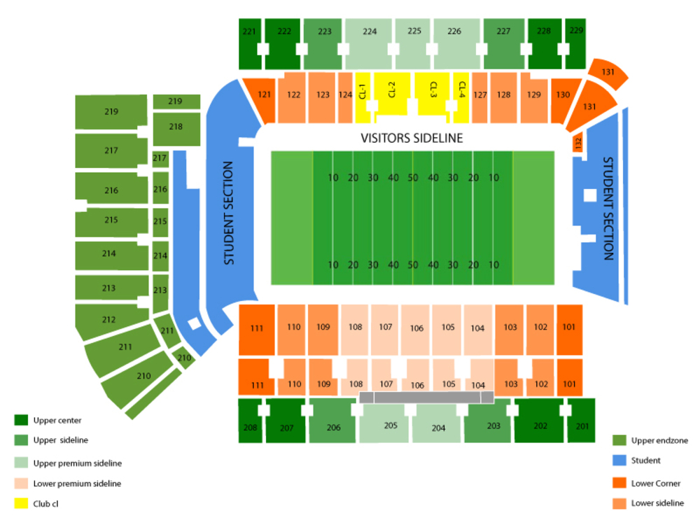 Georgia Tech Yellow Jackets Football Season Tickets Venue Map