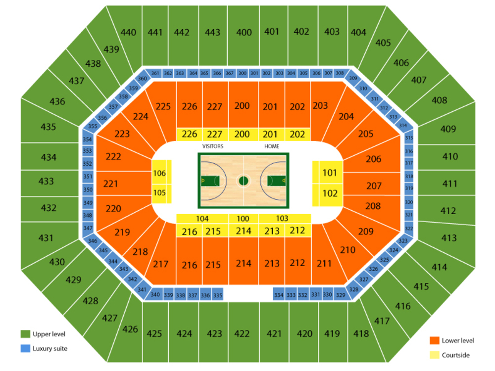 Atlanta Hawks at Milwaukee Bucks Venue Map