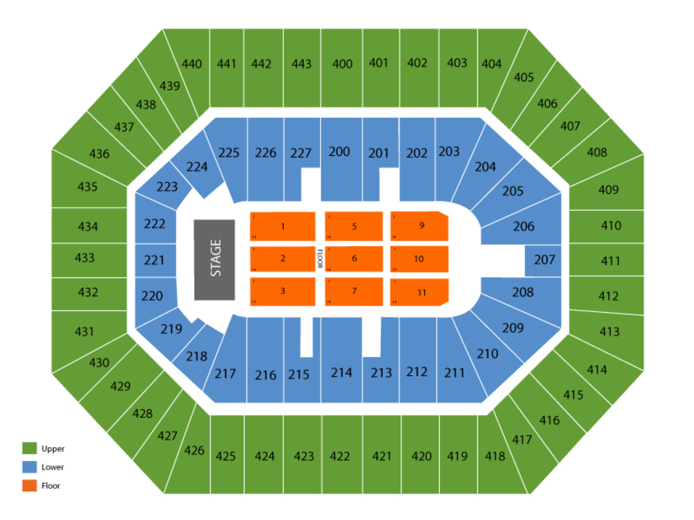 Janet Jackson (Rescheduled from 6/5) Venue Map
