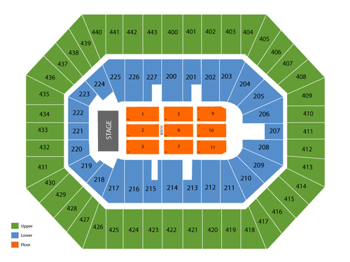BMO Harris Bradley Center Seating Chart