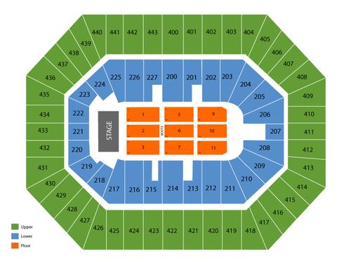 BMO Harris Bradley Center Seating Chart