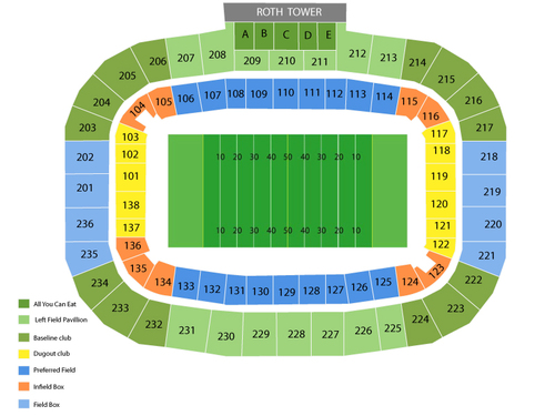 Houston Cougars at Central Florida Knights Football Venue Map
