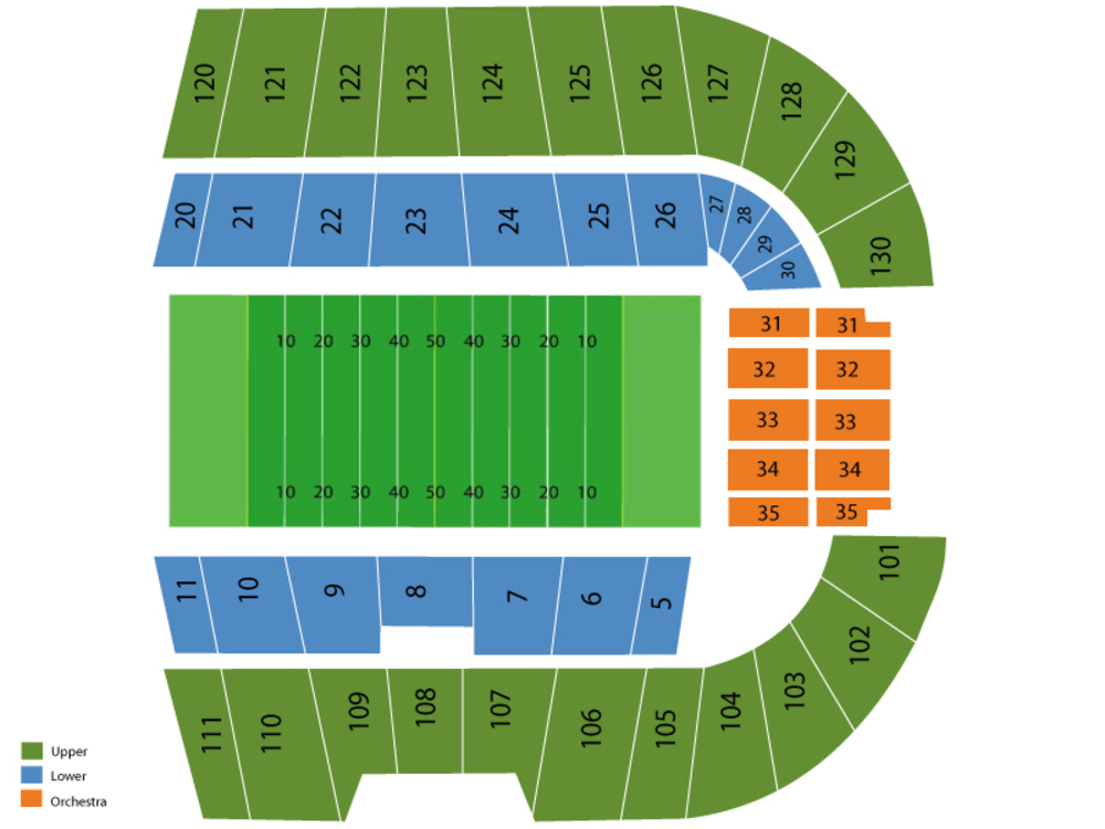 BYU Cougars at Boise State Broncos Football Venue Map