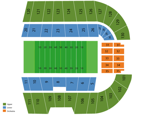 Bronco Stadium Seating Chart