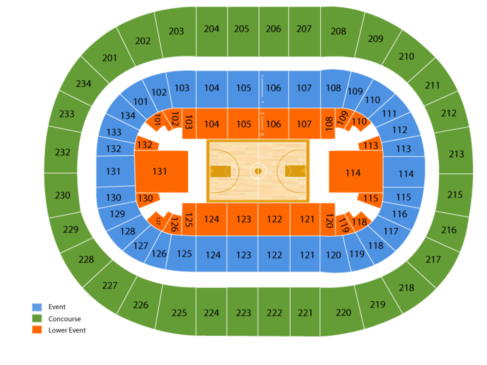 Michigan Wolverines at Penn State Nittany Lions Basketball Venue Map