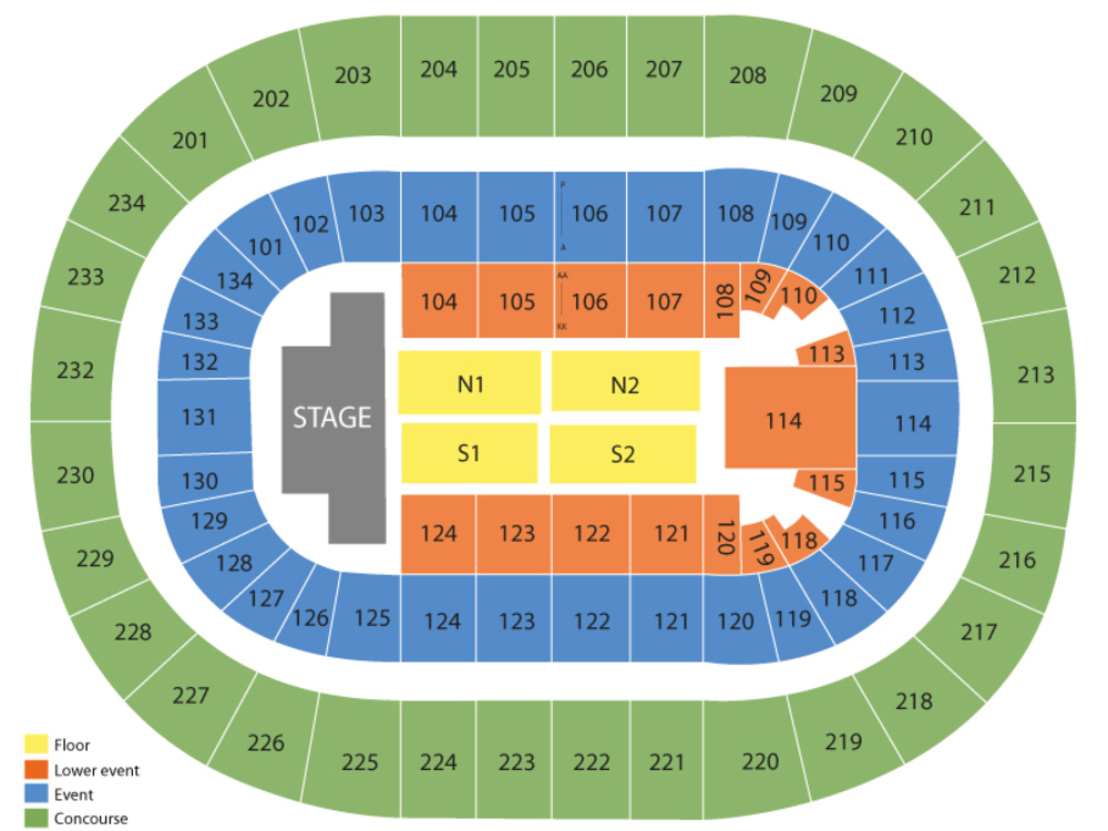 Miranda Lambert Venue Map