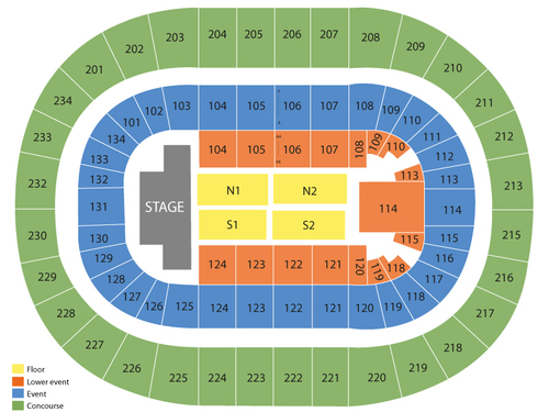 Hot Wheels Monster Trucks Live (Rescheduled from 4/25/2020 and 08/29/2020) Venue Map