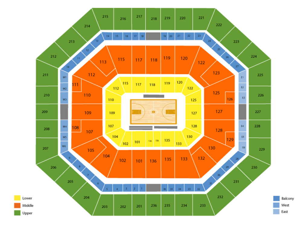 Bud Walton Arena Seating Chart And Tickets