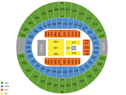 Luke Bryan (Rescheduled from 10/2/20) Venue Map