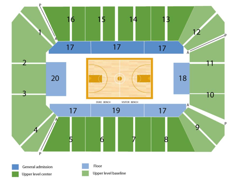 Cameron Indoor Stadium Seating Chart Www Pixshark Com