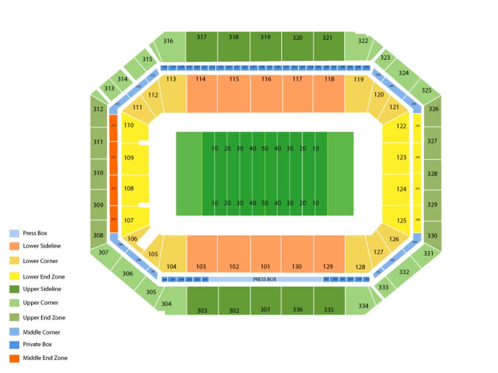 Syracuse Orange Football Season Tickets Venue Map