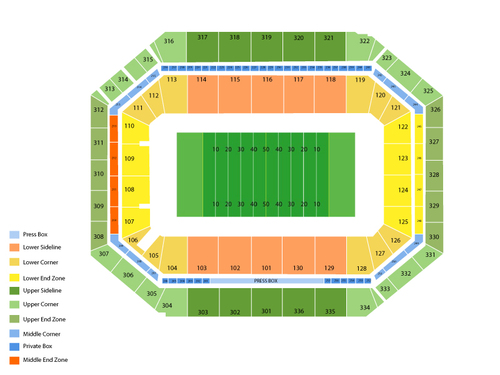 Wake Forest Demon Deacons at Syracuse Orange Football Venue Map
