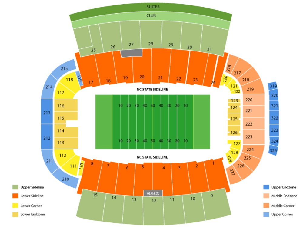 Carter finley stadium seating chart cheap tickets asap