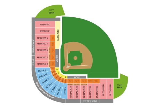 Salt Lake City Bees at Las Vegas 51s Venue Map