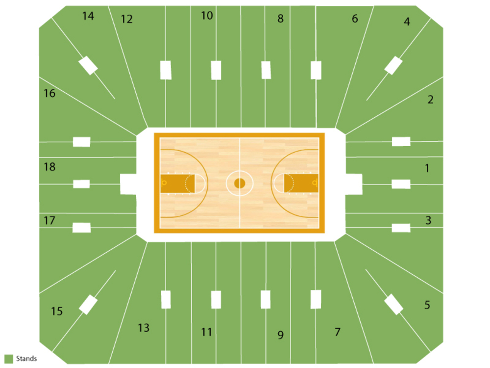Cassell Coliseum seating map and tickets