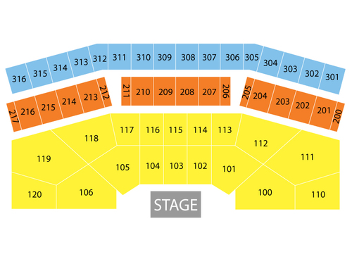Celeste Center Seating Chart