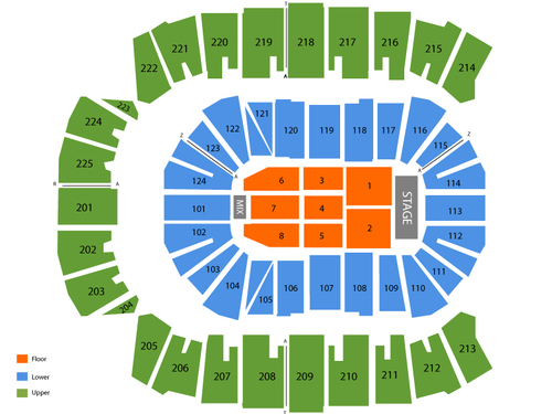 CenturyLink Center - Bossier City Seating Chart
