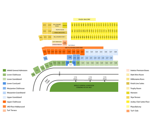 Churchill Downs Seating Chart