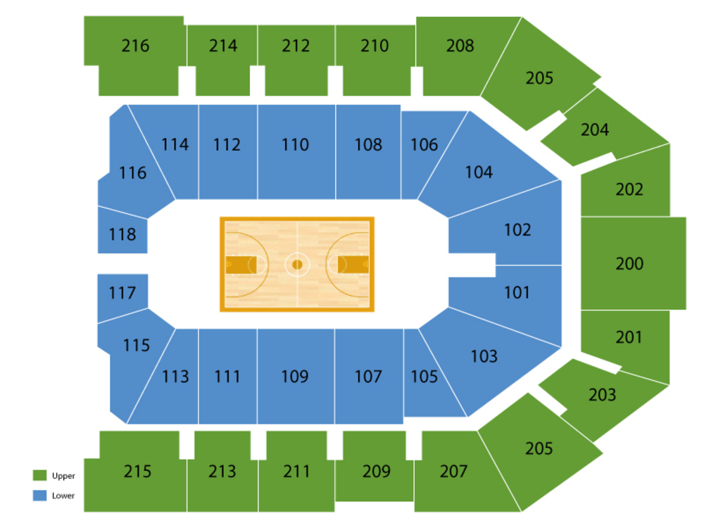 Missouri State Bears at Xavier Musketeers Basketball Venue Map