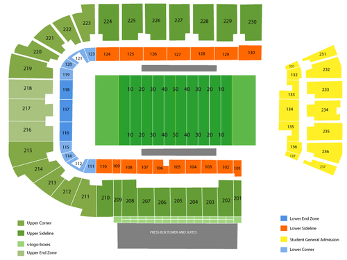 GEO Group Stadium (FAU Stadium) Seating Chart