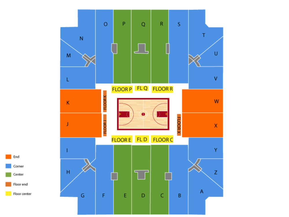 Arizona Wildcats at Alabama Crimson Tide Basketball Venue Map