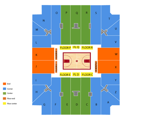 Coleman Coliseum Seating Chart