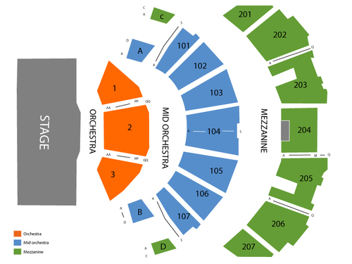 Revel Ovation Hall Seating Chart