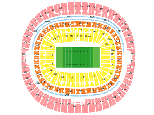 Pittsburgh Steelers at Minnesota Vikings Venue Map