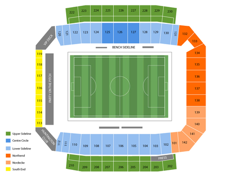 Seattle Sounders FC at Columbus Crew Venue Map