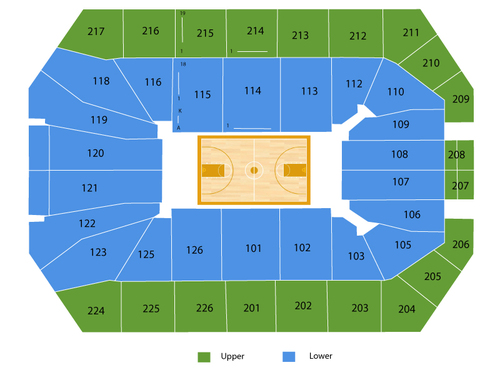 Xfinity Center (MD) Seating Chart