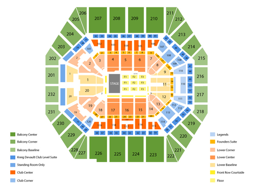 Bankers life fieldhouse seating chart events in indianapolis in