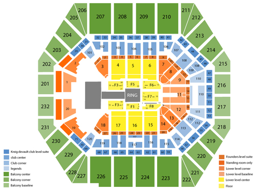 Bankers Life Fieldhouse Seating Chart Events In