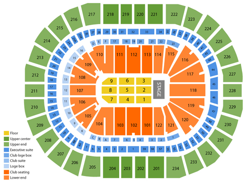 Consol Energy Center Seating Chart