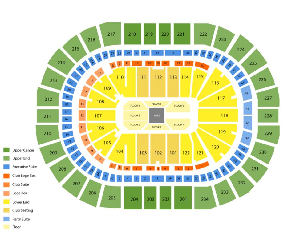 WWE Raw Venue Map