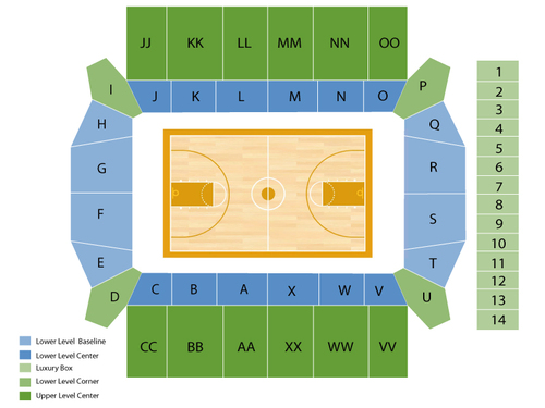 Silvio O. Conte Forum Seating Chart
