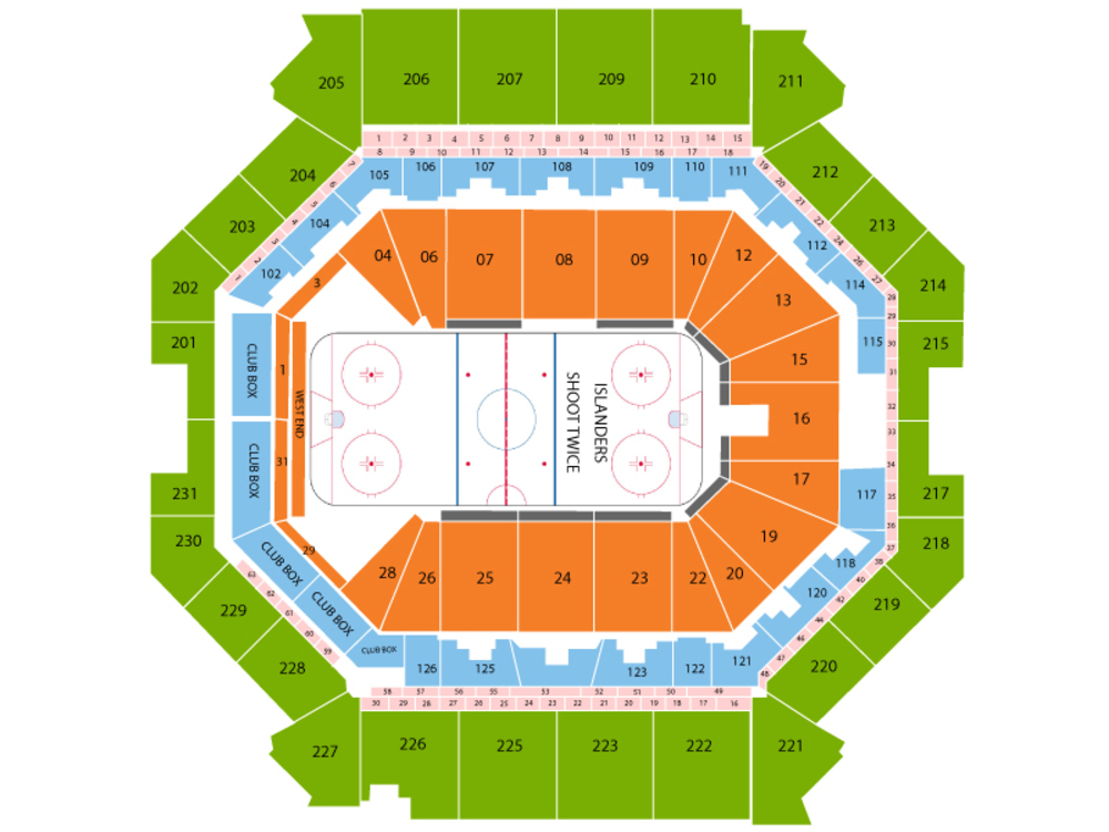Colorado Avalanche at New York Islanders Venue Map