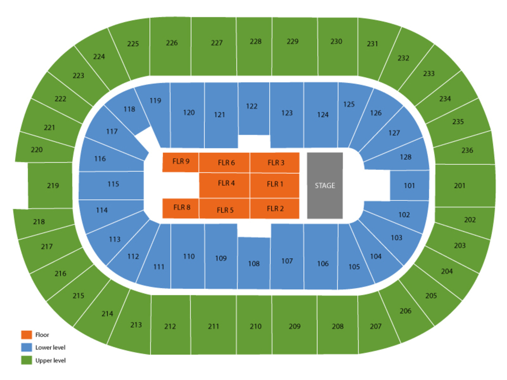 Tim McGraw and Faith Hill Venue Map