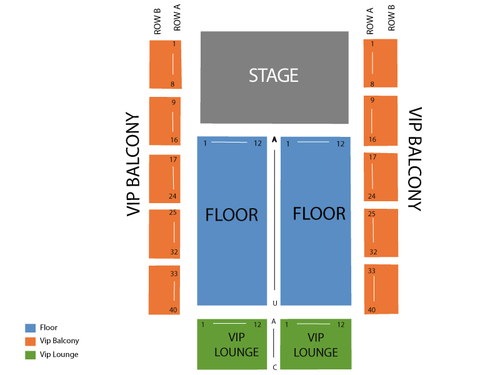 Rave/Eagles Ballroom Seating Chart