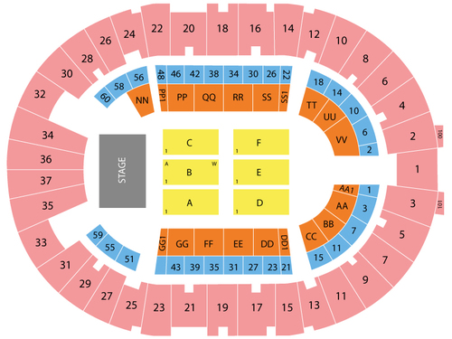 Cow Palace Seating Chart