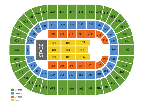 Cox Convention Center Arena Seating Chart